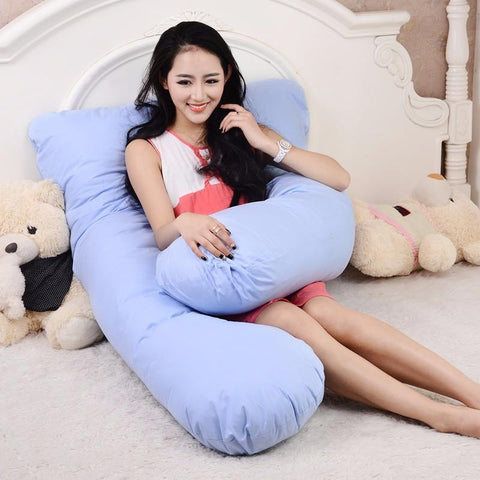 PINkart-USA Online Shopping 100% Cotton U Shape Full Body Pillow Pregnancy Maternity Sleep Pillows Sleeping Knee Back Hip Joint