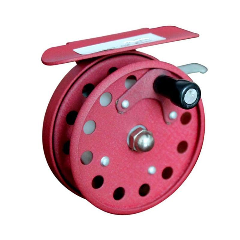 1000 Series Full Metal Red Color Fly Fishing Reel 55Mm Fishing Wheel Fishing Tackle