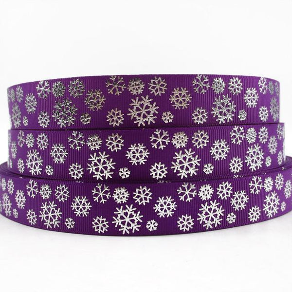 PinKart-USA Online Shopping 1009187003 David Accessories 7/822Mm Snowflake Christmas Printed Polyester Grosgrain Ribbon 10Yards,Diy