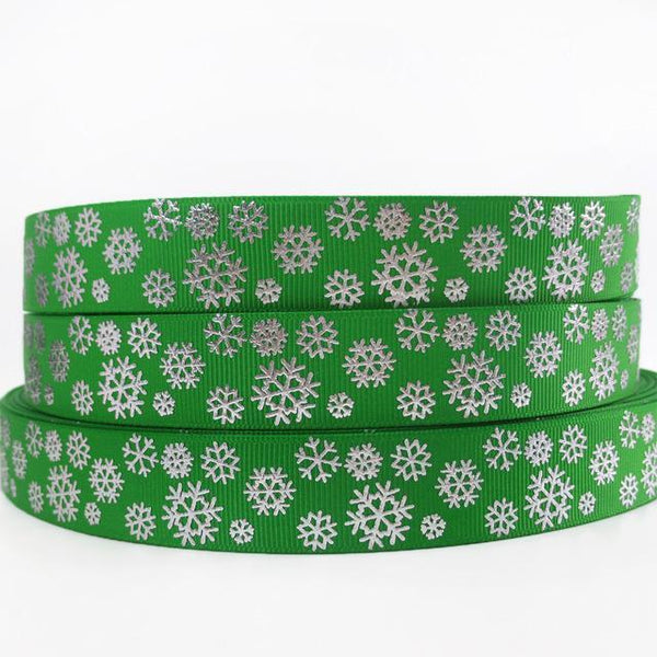 PinKart-USA Online Shopping 1009187005 David Accessories 7/822Mm Snowflake Christmas Printed Polyester Grosgrain Ribbon 10Yards,Diy