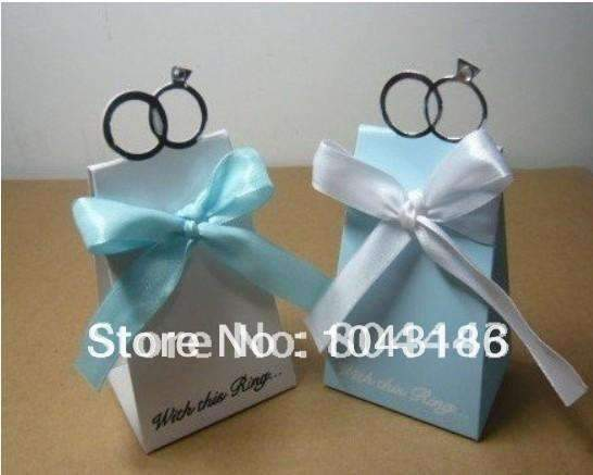 PinKart-USA Online Shopping 100Pcs/Lot As Candy Box For Favor Box--With This Ring Elegant Icon Favor Box