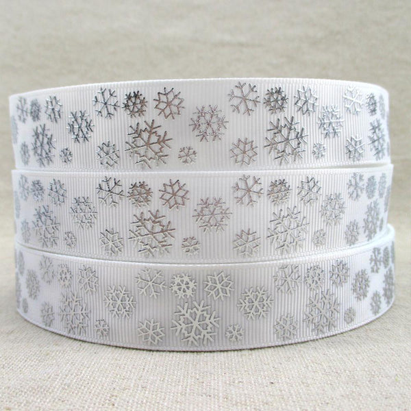 PinKart-USA Online Shopping 1012370001 David Accessories 7/822Mm Snowflake Christmas Printed Polyester Grosgrain Ribbon 10Yards,Diy