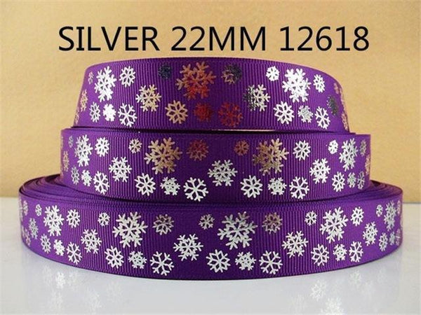 PinKart-USA Online Shopping 1012618001 David Accessories 7/822Mm Snowflake Christmas Printed Polyester Grosgrain Ribbon 10Yards,Diy