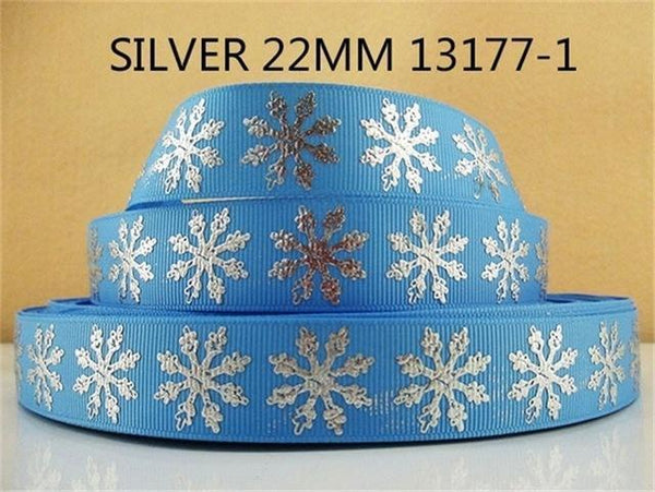 PinKart-USA Online Shopping 1013177001 David Accessories 7/822Mm Snowflake Christmas Printed Polyester Grosgrain Ribbon 10Yards,Diy