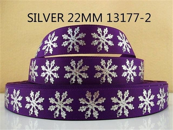 PinKart-USA Online Shopping 1013177002 David Accessories 7/822Mm Snowflake Christmas Printed Polyester Grosgrain Ribbon 10Yards,Diy