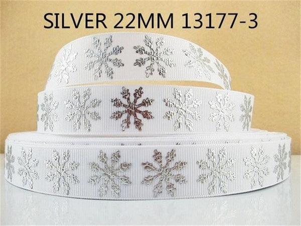 PinKart-USA Online Shopping 1013177003 David Accessories 7/822Mm Snowflake Christmas Printed Polyester Grosgrain Ribbon 10Yards,Diy