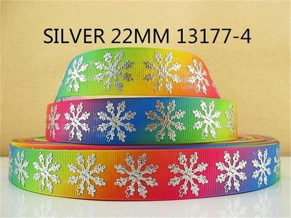 PinKart-USA Online Shopping 1013177004 David Accessories 7/822Mm Snowflake Christmas Printed Polyester Grosgrain Ribbon 10Yards,Diy