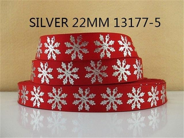 PinKart-USA Online Shopping 1013177005 David Accessories 7/822Mm Snowflake Christmas Printed Polyester Grosgrain Ribbon 10Yards,Diy