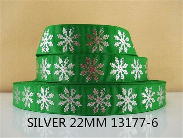 PinKart-USA Online Shopping 1013177006 David Accessories 7/822Mm Snowflake Christmas Printed Polyester Grosgrain Ribbon 10Yards,Diy