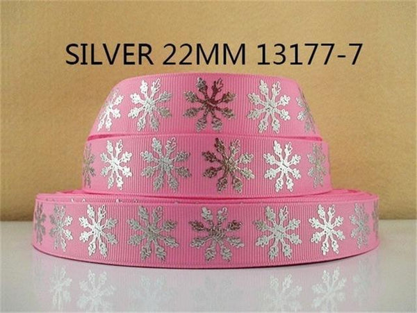 PinKart-USA Online Shopping 1013177007 David Accessories 7/822Mm Snowflake Christmas Printed Polyester Grosgrain Ribbon 10Yards,Diy