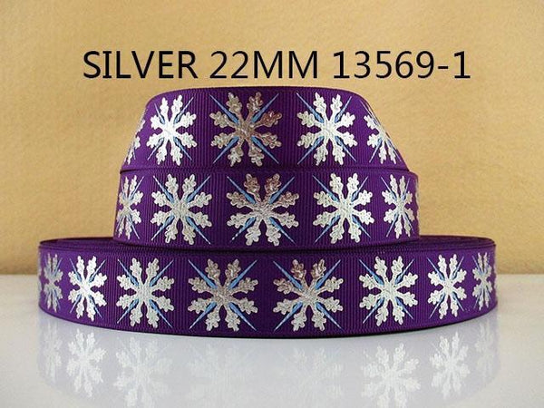 PinKart-USA Online Shopping 1013569001 David Accessories 7/822Mm Snowflake Christmas Printed Polyester Grosgrain Ribbon 10Yards,Diy