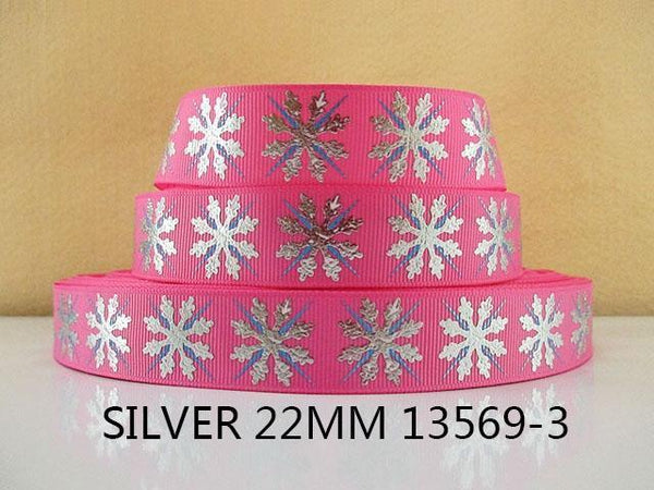 PinKart-USA Online Shopping 1013569003 David Accessories 7/822Mm Snowflake Christmas Printed Polyester Grosgrain Ribbon 10Yards,Diy