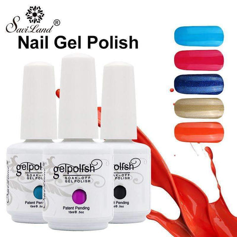 PinKart-USA Online Shopping 1022 1Pcs Semi Permanent Gel Nail Polish 3D Professional Glitter Soak Off Uv Led Gel Lacquer