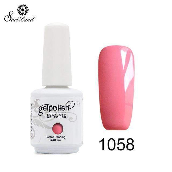 PinKart-USA Online Shopping 1058 1Pcs Semi Permanent Gel Nail Polish 3D Professional Glitter Soak Off Uv Led Gel Lacquer