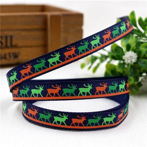 PinKart-USA Online Shopping 10MM 10 yards 1591032 , 15 Arrival 25Mm Christmas Series Printing Ribbon, Unique Models, Christma