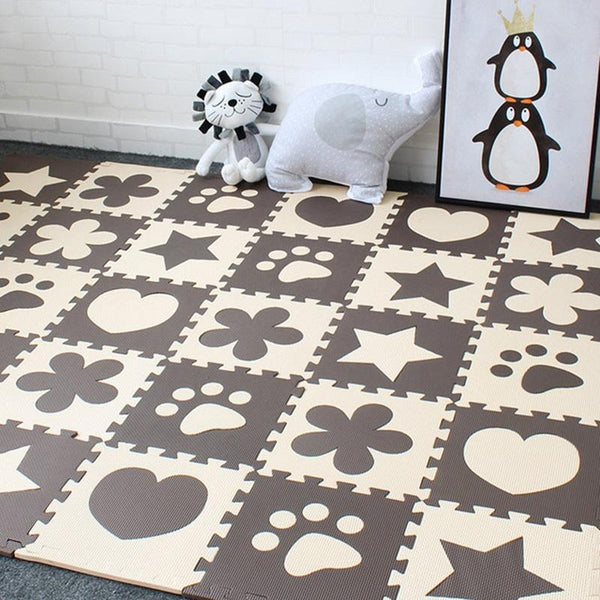 PINkart-USA Online Shopping 10Pcs Baby Play Mat In Nursery Eva Foam Childrens Carpet With Border Puzzle Mat For Borns