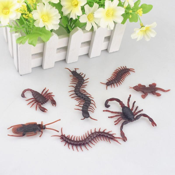 PINkart-USA Online Shopping 10Pcs Spoof Toy Novelty Funny Simulation Centipede Scorpion Fly Cockroach House Lizard Fun Toys