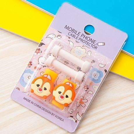 PinKart-USA Online Shopping 11 1Pc Fashion Cute Cartoon Usb Cable Protector Cover Case For Apple Iphone Android Charger Data