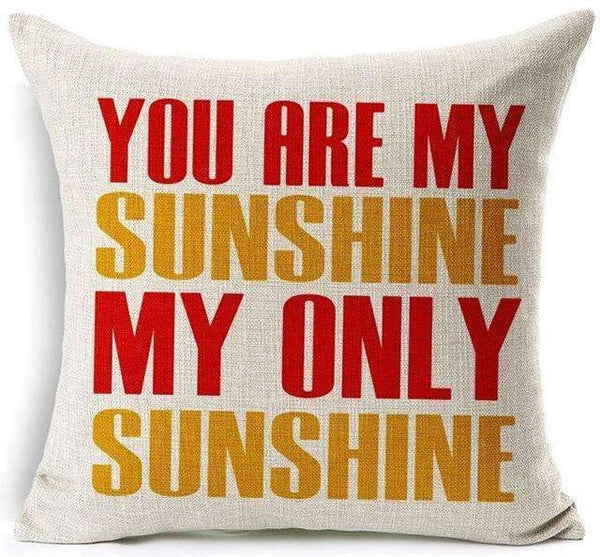 PinKart-USA Online Shopping 11 / 45x45 cm Hyha Funny Words Pillow Case Home 45X45 Cm Pillows Sea Sun Sand Style Pillowcases Home Pillows