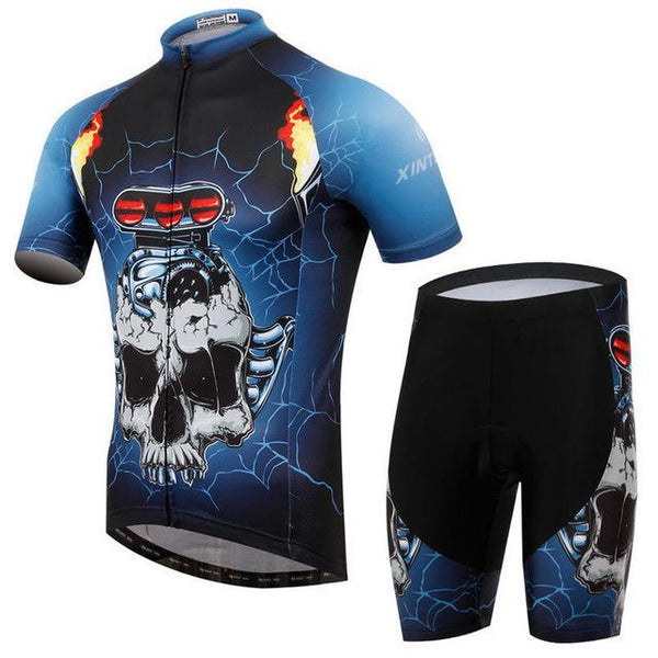 Skull Style Summer Cycling Clothing/Short Sleeve Cycling Jersey Ropa Ciclismo/Mtb Bike Jersey