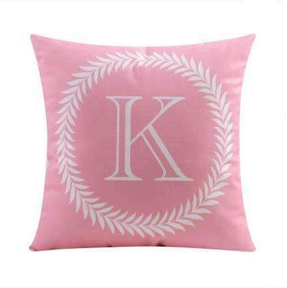 PinKart-USA Online Shopping 11 no filling / 45x45cm 26 Letters Cushions Decorative Pillow Almofada Colorful Pillow Linen Cotton Throw Pillow Cushion Fo