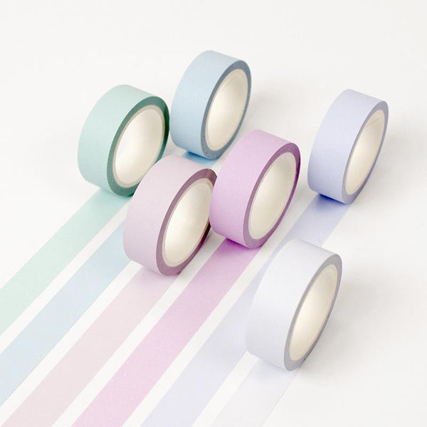 PINkart-USA Online Shopping 12 Color Soft Color Paper Washi Tape 15Mm*8M Pure Masking Tapes Decorative Stickers Diy Stationery