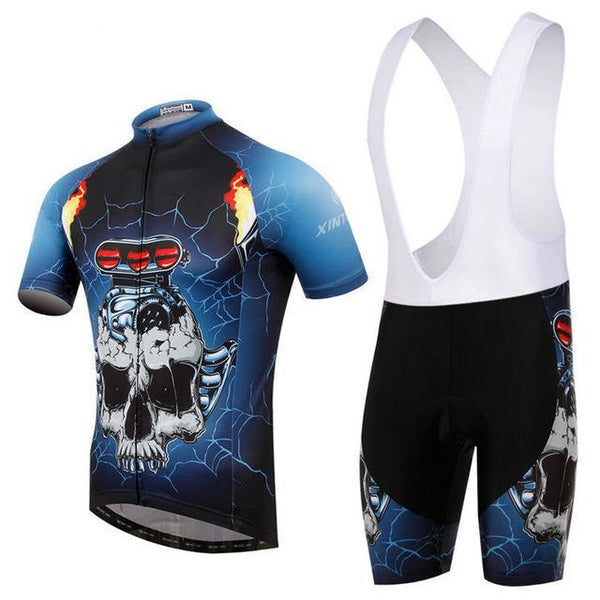 PINkart-USA Online Shopping 12 / L Skull Style Summer Cycling Clothing/Short Sleeve Cycling Jersey Ropa Ciclismo/Mtb Bike Jersey