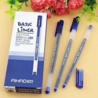 PINkart-USA Online Shopping 12 pcs Blue 12 Pcs Basic Liner Roller Ball Pen For Writing Signature 0.5Mm Ballpoint 3 Color Gel Ink Pens