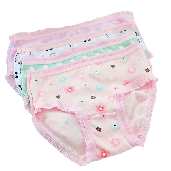 PINkart-USA Online Shopping 12 Pcs/Lot 200-Kinds Style Girls Briefs Organic Cotton 2-10Y Baby Kids Underwear For Girl
