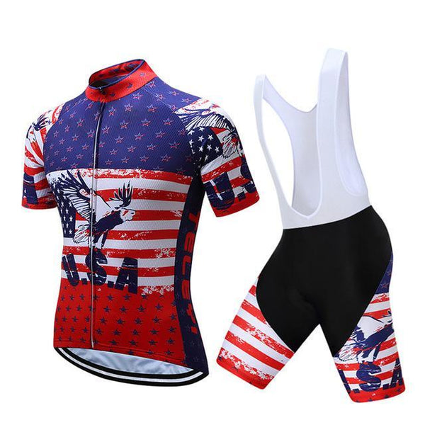 PINkart-USA Online Shopping 12 / S Teleyi Brand Pro Team Racing Sport Cycling Jersey Sets Men Usa Style Mtb Road Bike Jersey Quick Dry