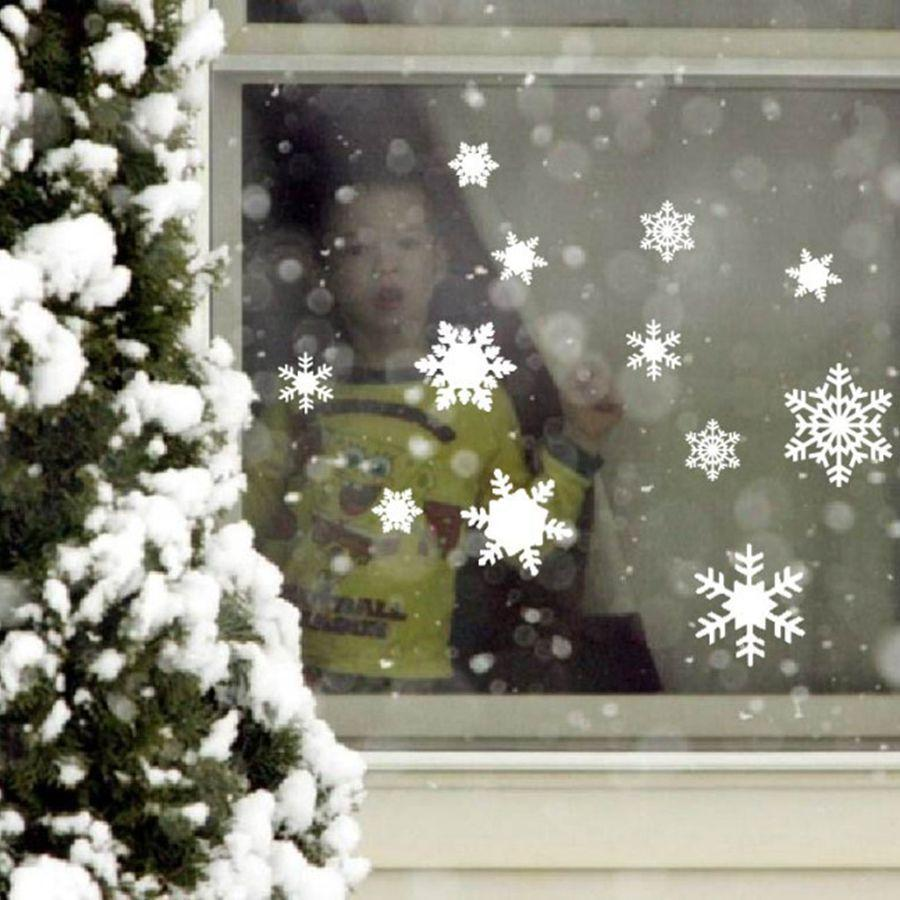 PinKart-USA Online Shopping 12 Vinyl Snowflake Decals For The Holidays- Christmas Winter Decorations - For Windows, Door, Wall,