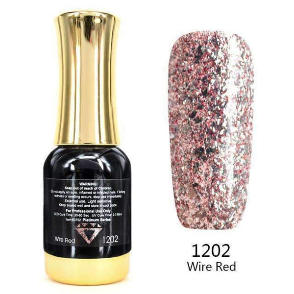PinKart-USA Online Shopping 1202 Nail Art 12Ml 12 Color Supper Diamond Shining Glitter Sequins Starry Platinum Paint Gel