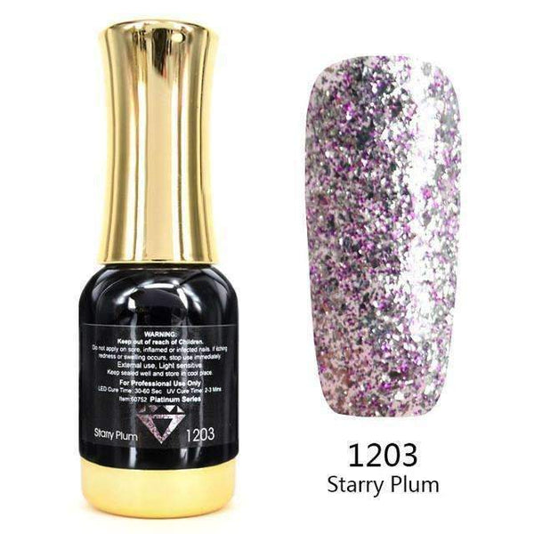 PinKart-USA Online Shopping 1203 Nail Art 12Ml 12 Color Supper Diamond Shining Glitter Sequins Starry Platinum Paint Gel