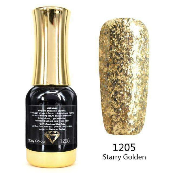 PinKart-USA Online Shopping 1205 Nail Art 12Ml 12 Color Supper Diamond Shining Glitter Sequins Starry Platinum Paint Gel