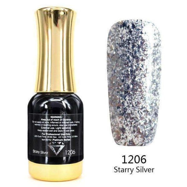 PinKart-USA Online Shopping 1206 Nail Art 12Ml 12 Color Supper Diamond Shining Glitter Sequins Starry Platinum Paint Gel