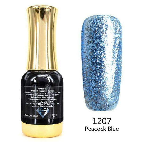PinKart-USA Online Shopping 1207 Nail Art 12Ml 12 Color Supper Diamond Shining Glitter Sequins Starry Platinum Paint Gel