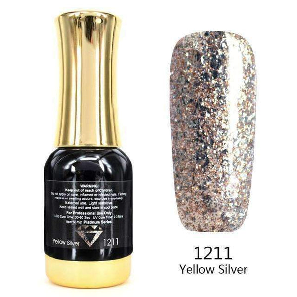 PinKart-USA Online Shopping 1211 Nail Art 12Ml 12 Color Supper Diamond Shining Glitter Sequins Starry Platinum Paint Gel