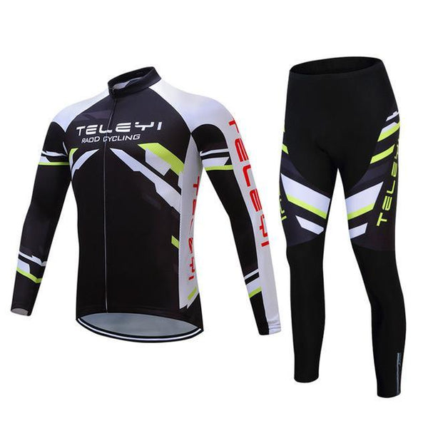 PINkart-USA Online Shopping 13 / 4XL Teleyi Long Sleeve Cycling Jersey Sets Ropa Ciclismo Mtb Bike Jersey Cycling Clothing Maillot