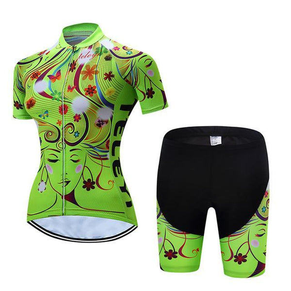 PINkart-USA Online Shopping 13 / L Teleyi Leisure Outdoor Women'S Cycling Jersey Set Sport Bicycle Cycling Clothing Ropa Ciclismo