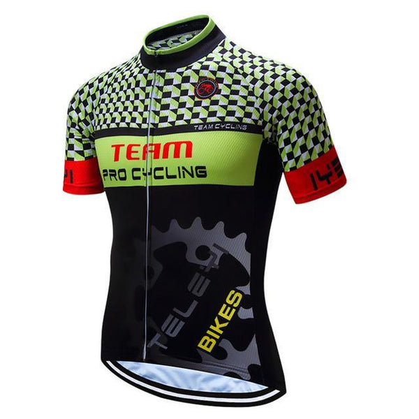 Teleyi Team Breathable Cycling Jersey Summer Bike Shirt High Quality Bicycle Clothes Ropa