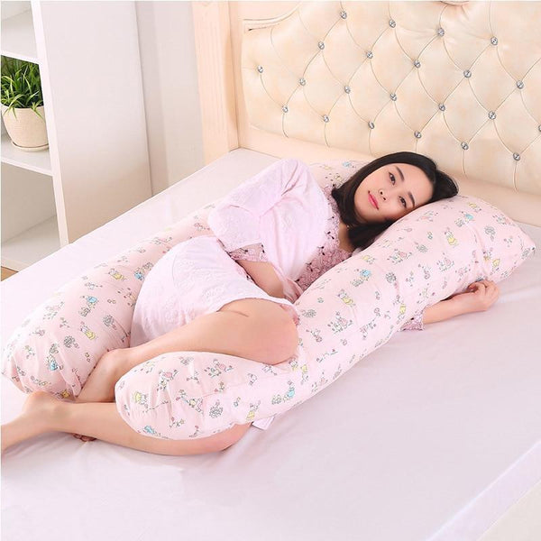 PINkart-USA Online Shopping 130*70Cm Body Pillows Sleeping Pregnancy Pillow Belly Contoured Maternity U Shaped Removable Cover