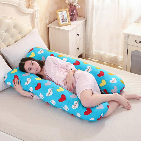PINkart-USA Online Shopping 130*70Cm Pregnancy Comfortable U Shape Maternity Pillows Body Cartoon Pregnancy Pillow Women