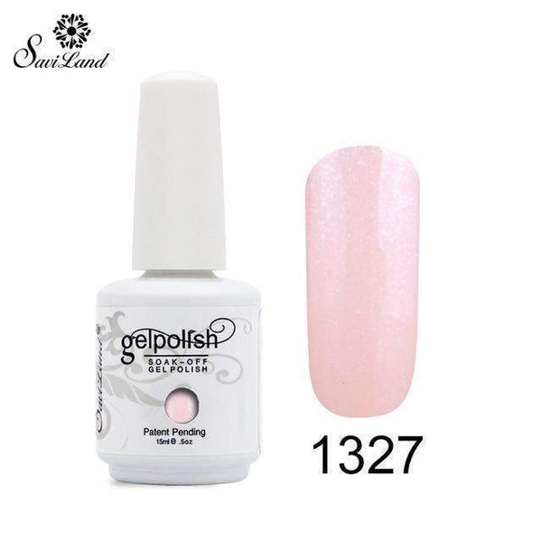 PinKart-USA Online Shopping 1327 1Pcs Semi Permanent Gel Nail Polish 3D Professional Glitter Soak Off Uv Led Gel Lacquer