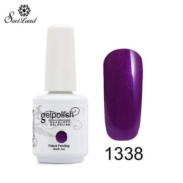 1Pcs Semi Permanent Gel Nail Polish 3D Professional Glitter Soak Off Uv Led Gel Lacquer