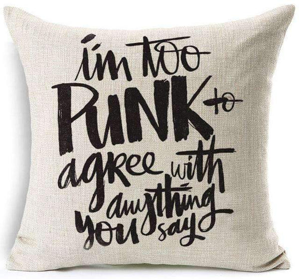 PinKart-USA Online Shopping 14 / 45x45 cm Hyha Fashion Funny Words Pillowcase Geometric Letter Pillow Cases Home Simple Colorful Words