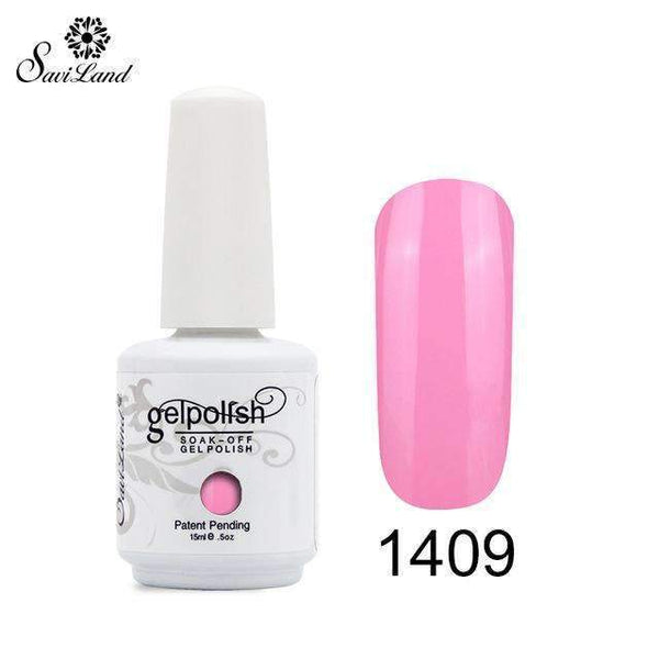 PinKart-USA Online Shopping 1409 1Pcs Semi Permanent Gel Nail Polish 3D Professional Glitter Soak Off Uv Led Gel Lacquer