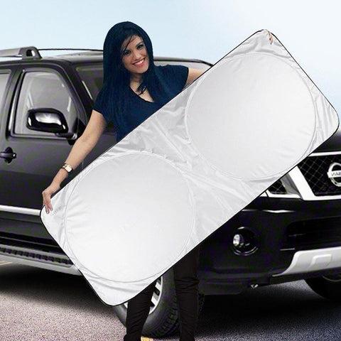 PINkart-USA Online Shopping 142 X 67Cm Car Window Sunshade Covers Foldable Car Front Rear Window Sun Shade Auto Windshield