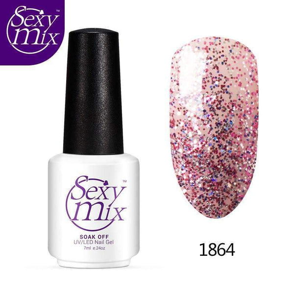 PinKart-USA Online Shopping 1477 Mix Soak Off Uv Nail Gel Polish Ladies Bling Nail Enamel Long Lasting Manicure Colorful
