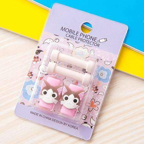 PinKart-USA Online Shopping 15 1Pc Fashion Cute Cartoon Usb Cable Protector Cover Case For Apple Iphone Android Charger Data