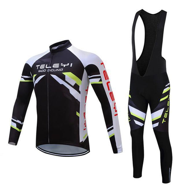 PINkart-USA Online Shopping 15 / 4XL Teleyi Long Sleeve Cycling Jersey Sets Ropa Ciclismo Mtb Bike Jersey Cycling Clothing Maillot